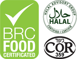 BRC, Halal, and Kosher certified